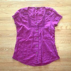 Prana bright pink top (sz M)